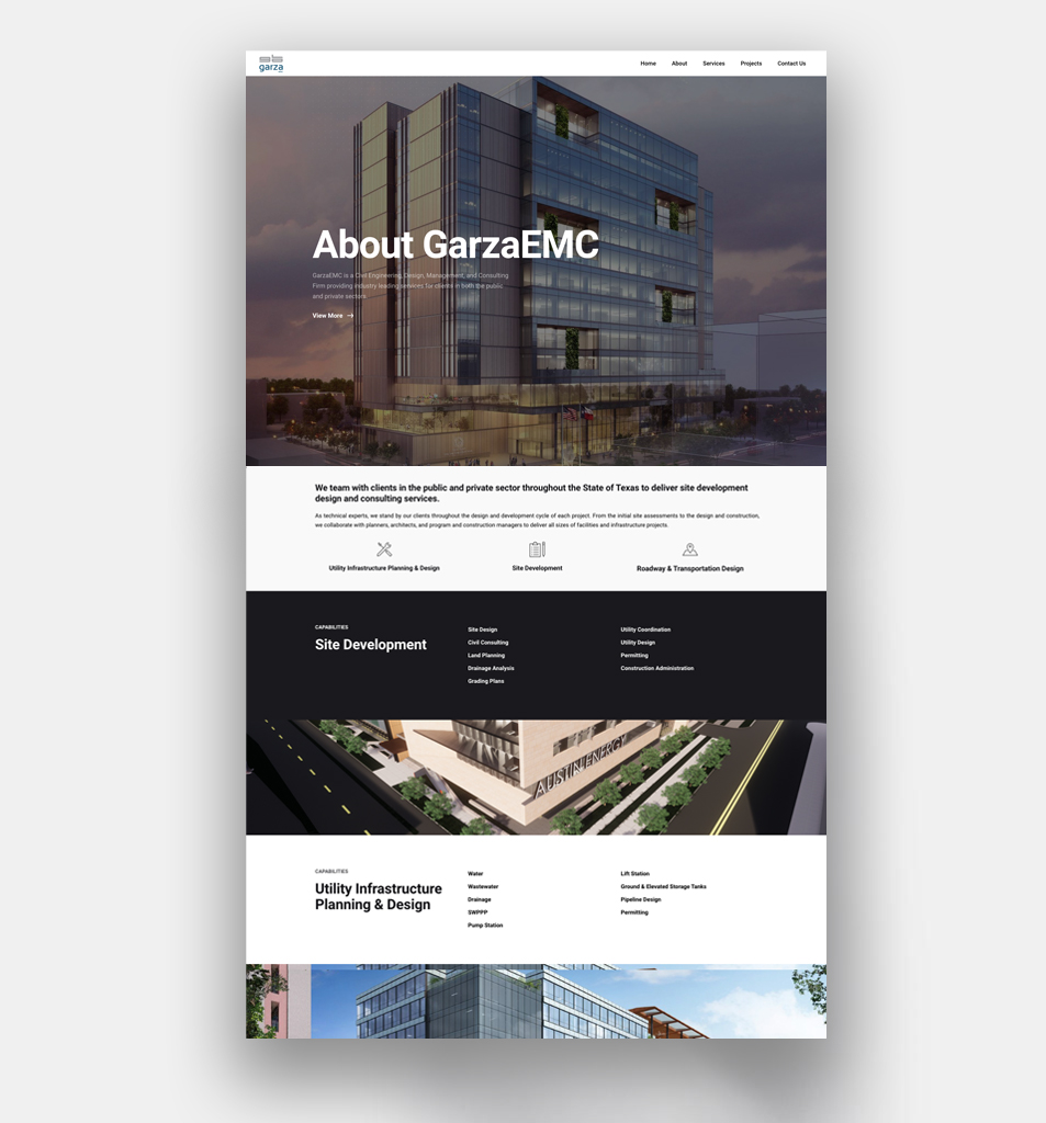 GarzaEMC Website Design